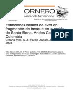 1. Extinciones Locales de Aves en Santa Helena