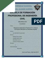 Lab. Trab. 4 - Calculo de Presion Con Velocidad Anhular