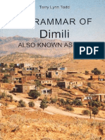 Grammar of Dimli