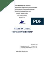 Espacio Vectorial Cuarto Trabajo de Algebra