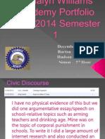 academy portfolio 2013-2014 semester 1