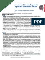 Caracteristicas de La Poblacion Portuguesa Amputada