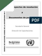 Anteproyectos y Documentos