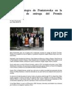 Discurso Íntegro de Poniatowska en La Ceremonia de Entrega Del Premio Cervantes