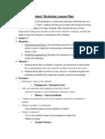 readers workshop lesson plan