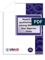 Report of a Qualitative Study Among MARPs in Four Nigerian Cities by O Ezire Et.al.
