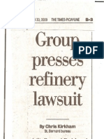 Group Presses Refinery Lawsuit