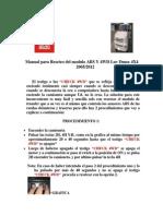 Manual de Reseteo de Modulo Luv Dmax 4x4