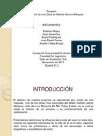Diapositivas de la representacion de una obra de Gabriel Garcia Marquez