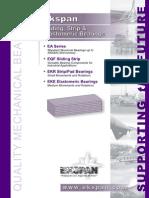 Ekspan EA-EQF-EKR Series Bearing Brochure