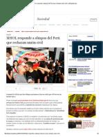 MHOL Responde a Obispos Del Perú Que Rechazan Unión Civil _ LaRepublica