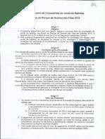 Regulamento de Concessões de Venda de Bebidas na Queima das Fitas 2014