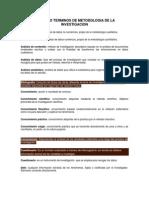 Glosario Terminos de Metodologia de La Investigacion