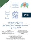 St. Rita Parish Bulletin 4/27/2014