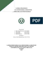 LAPORAN PRAKTIKUM RSK&E MODUL III - BIOMEKANIKA DAN POSTUR KERJA