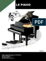 LE PIANO Guide Dapprentissage Vol1