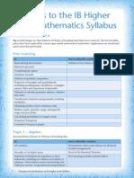 IB Higher Level Syllabus