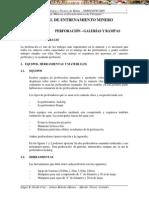 Manual Entrenamiento Minero Perforacion Galerias