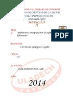 Tarea de Investigación Formativa 1ª Unidad Medicina II 2014