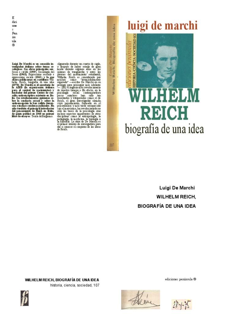 a58903996 Luigi de Marchi - Wilhelm Reich