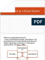 The School as a Social System