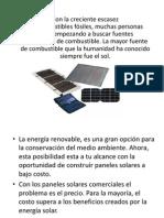 Presentación Paneles Solares Tecnología