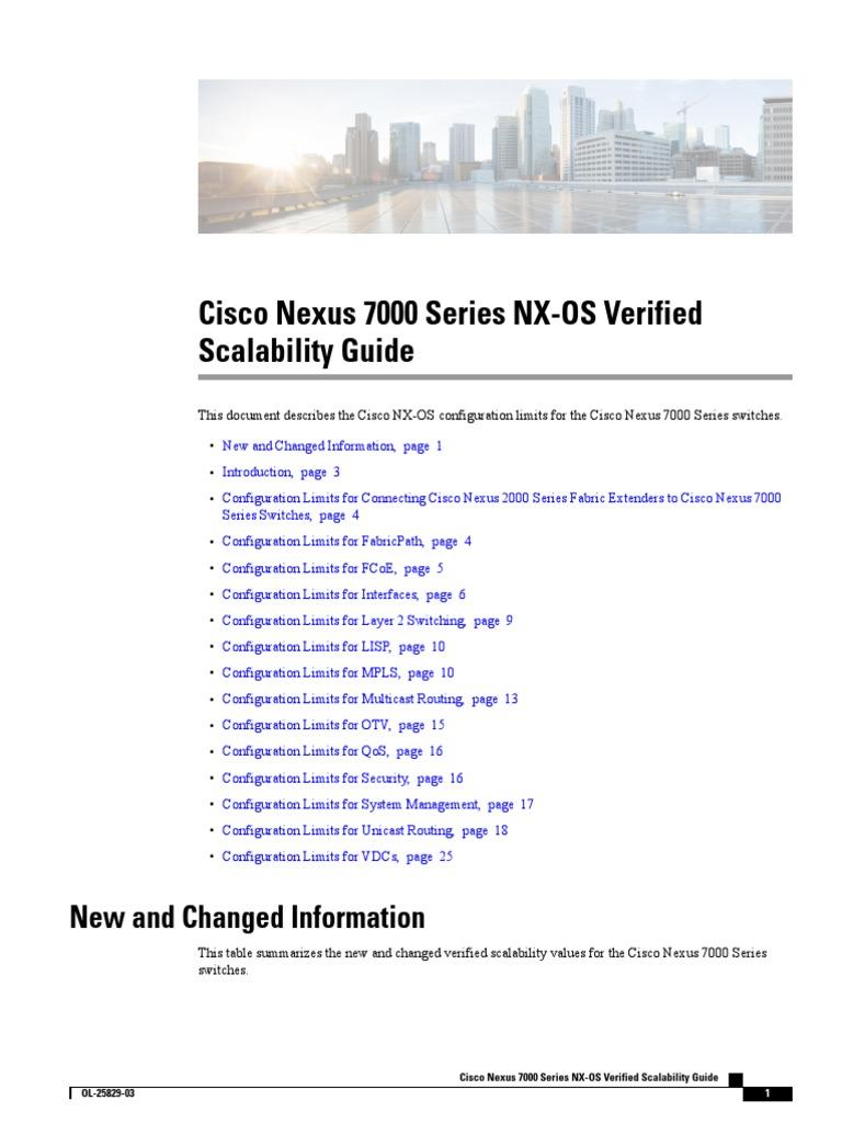 b Cisco Nexus 7000 Series NX-OS Verified Scalability Guide