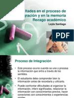 Informe Oral (Integracion, Memoria, Rezago Académico)