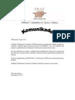 Komunikado 1 Mei 2014