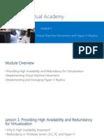 Server Virtualization mcts hyper v