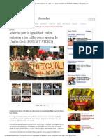 Marcha Por La Igualdad_ Miles Salieron a Las Calles Para Apoyar La Unión Civil (FOTOS Y VIDEO) _ LaRepublica