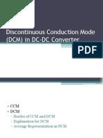 Discontinuous Conduction Mode (DCM) in DC-DC