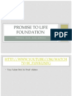 promise to life foundation presentation