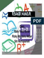 Reaksi Nuklir (Presentasi)