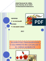 Alimentos Transgenicos y Su Impacto en La Salud