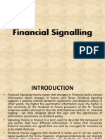 Financial Signaling By Kiran Kumari