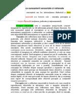 Dialectica Cunoasterii Senzoriale Si Rationale