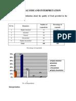Data Analysisi and Interpretation