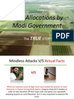 Gujarat Land Allocation - Real Facts