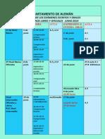 Calendario exámenes 2014