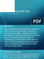 project 3 - the language lab