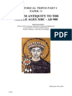 From Antiquity to the Middle Ages 31bc - Ad 900