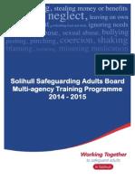 SSAB Training Programme 2014-15 (1st Edition)