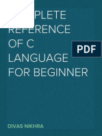 Complete reference of C Language