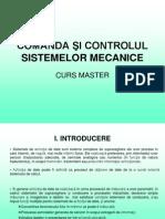 Comanda Şi Controlul Sistemelor Mecanice