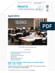 Library Newsletter April 2014