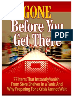 77Items Instantly Vanish Store Shelves in Panic Prepare Crisis Not Wait