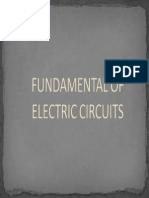 Note 1 - Fundamental of Electric Circuits