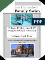family swim flyer