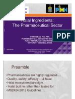 Prof Dr. Zhari- Halal Pharma Ingredients
